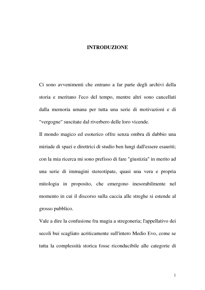 Anteprima della tesi: Triora, la città del male: streghe diavoli inquisitori nel Ponente Ligure rinascimentale, Pagina 1