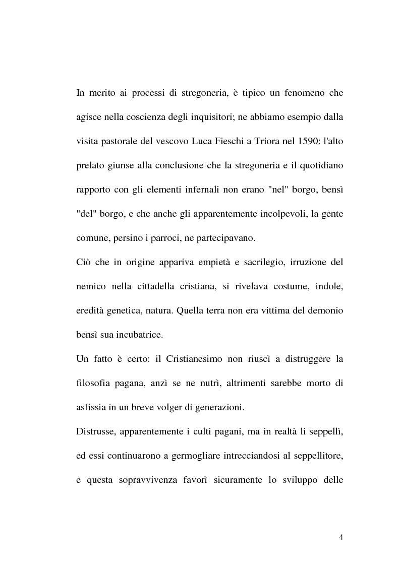 Anteprima della tesi: Triora, la città del male: streghe diavoli inquisitori nel Ponente Ligure rinascimentale, Pagina 4