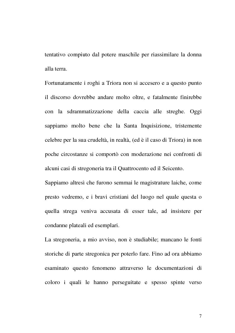 Anteprima della tesi: Triora, la città del male: streghe diavoli inquisitori nel Ponente Ligure rinascimentale, Pagina 7