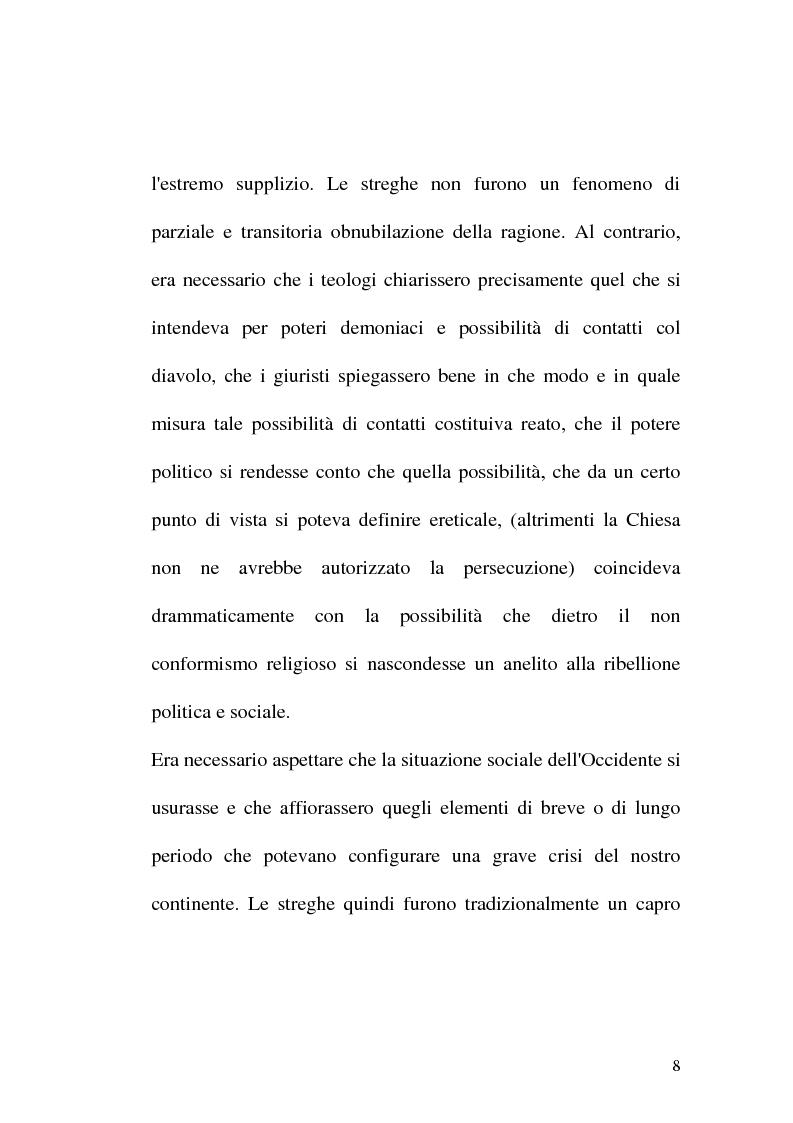 Anteprima della tesi: Triora, la città del male: streghe diavoli inquisitori nel Ponente Ligure rinascimentale, Pagina 8