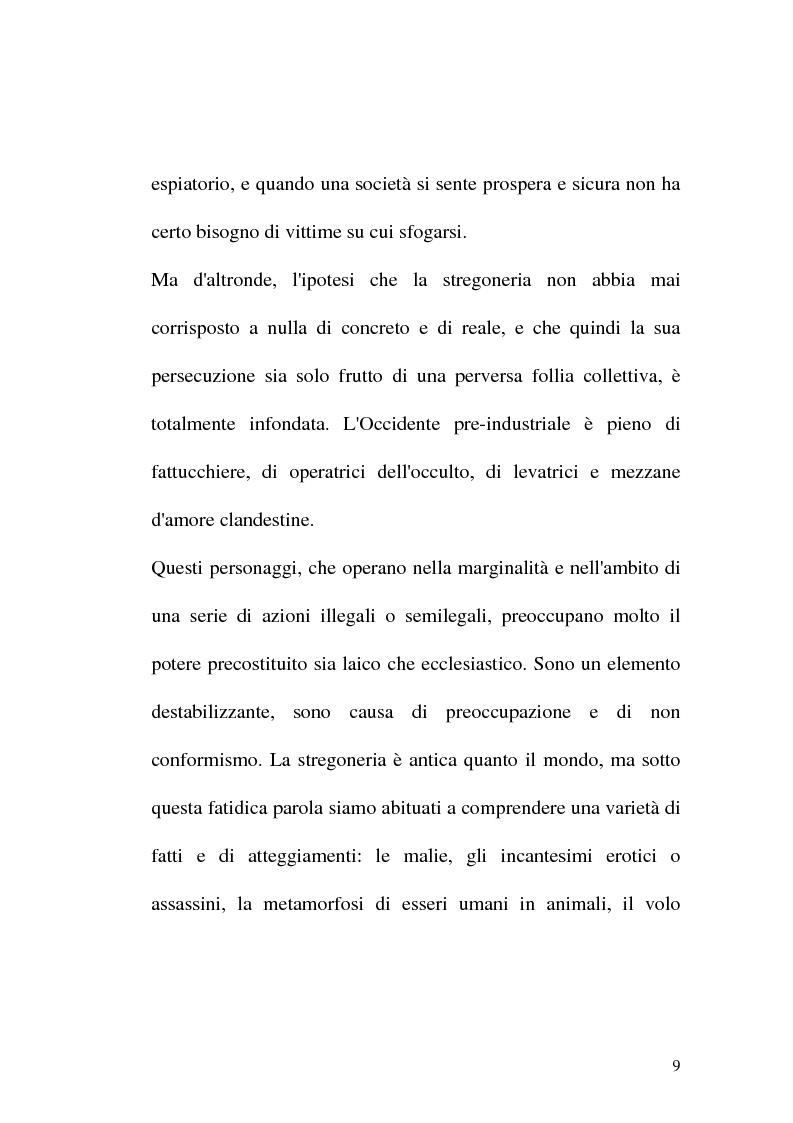 Anteprima della tesi: Triora, la città del male: streghe diavoli inquisitori nel Ponente Ligure rinascimentale, Pagina 9