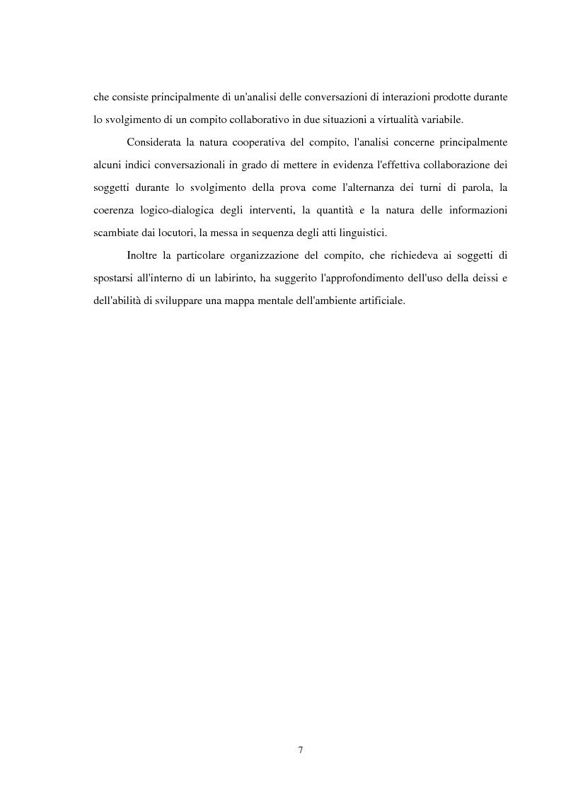 Anteprima della tesi: Analisi delle conversazioni di interazione in ambienti virtuali, Pagina 3