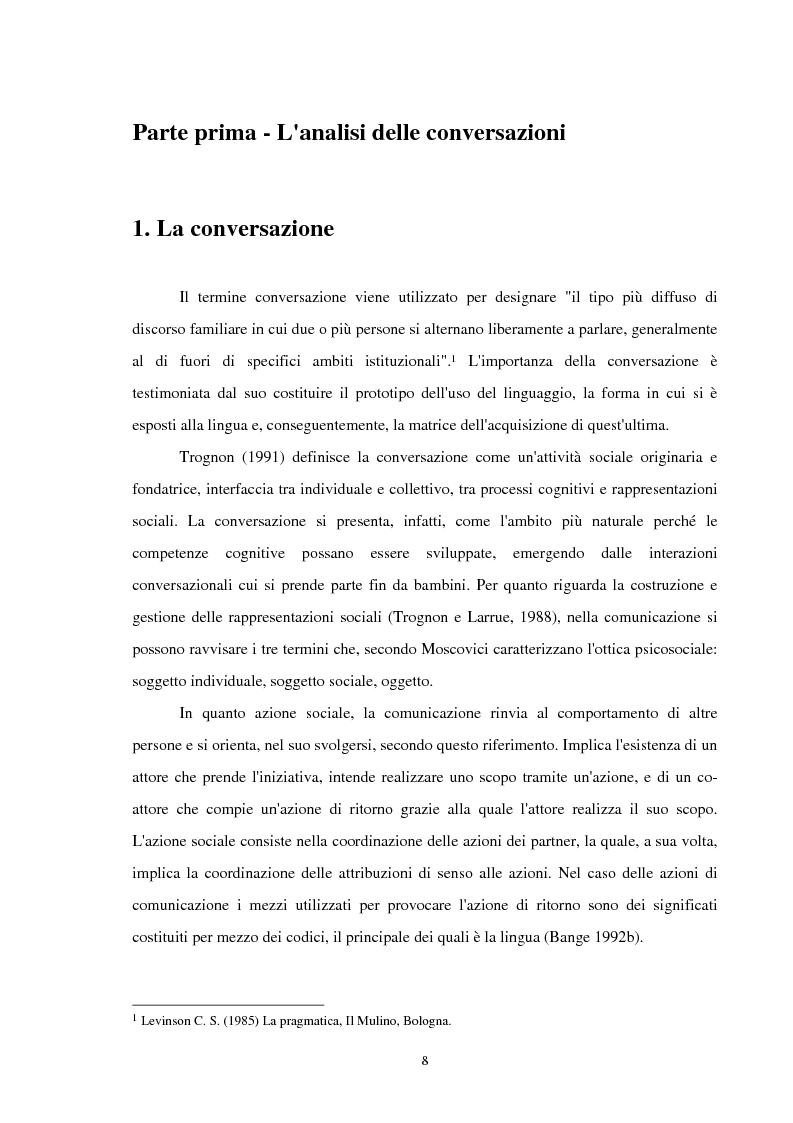 Anteprima della tesi: Analisi delle conversazioni di interazione in ambienti virtuali, Pagina 4