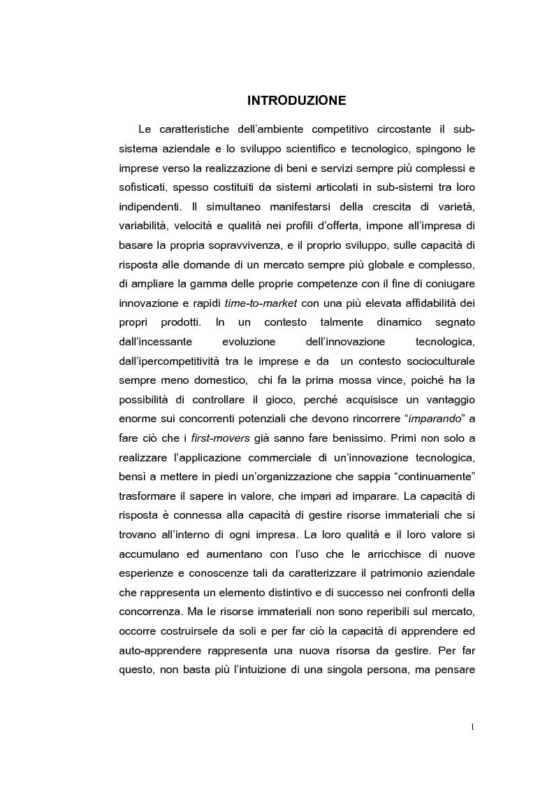 Organizational Learning Process. Processi di apprendimento organizzativo nelle Pmi: il caso del Distretto Salentino - Te...