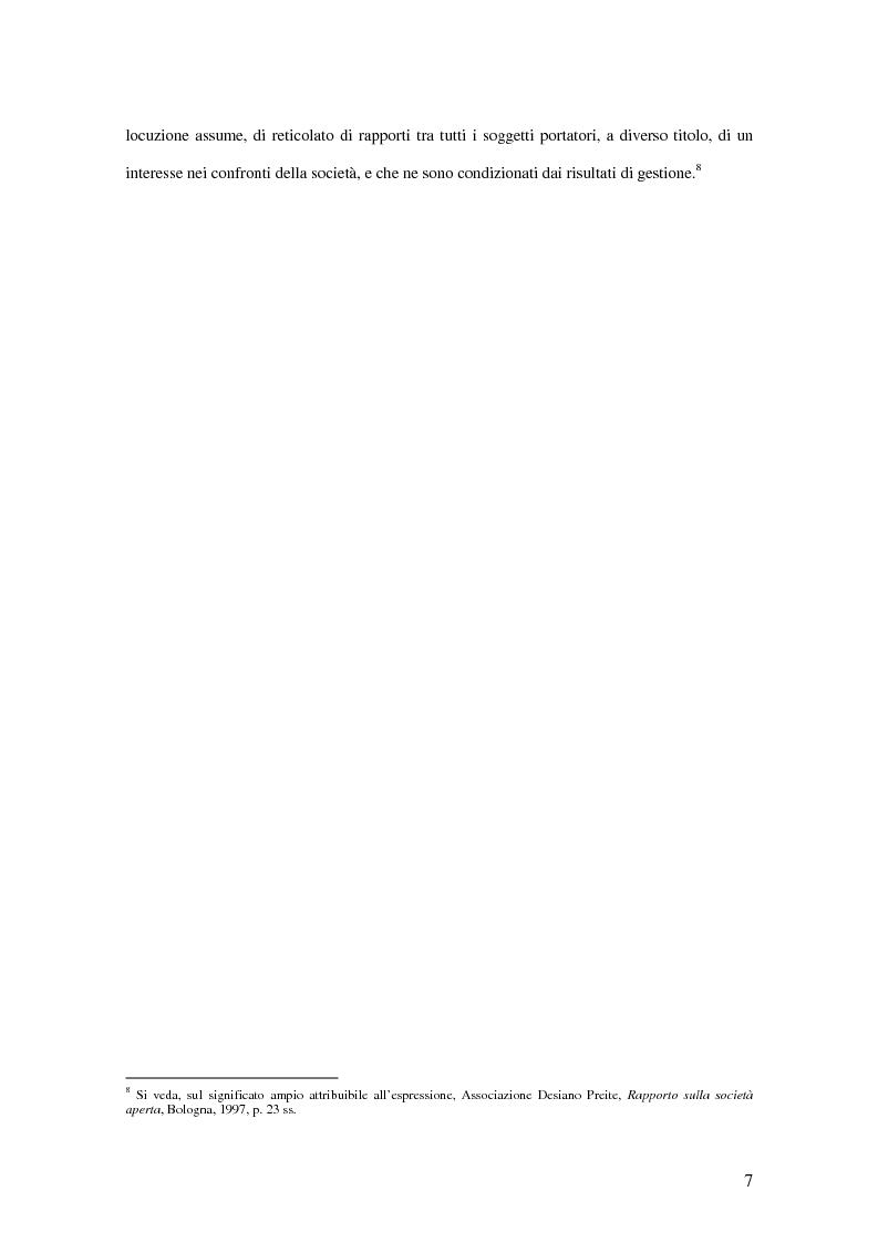 Anteprima della tesi: Il codice di autodisciplina come strumento di corporate governance: il caso italiano alla luce dell'esperienza anglosassone, Pagina 5
