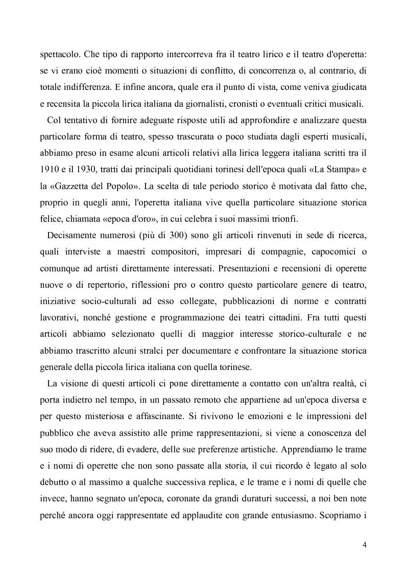 Anteprima della tesi: Torino: la stampa racconta l'operetta, Pagina 2