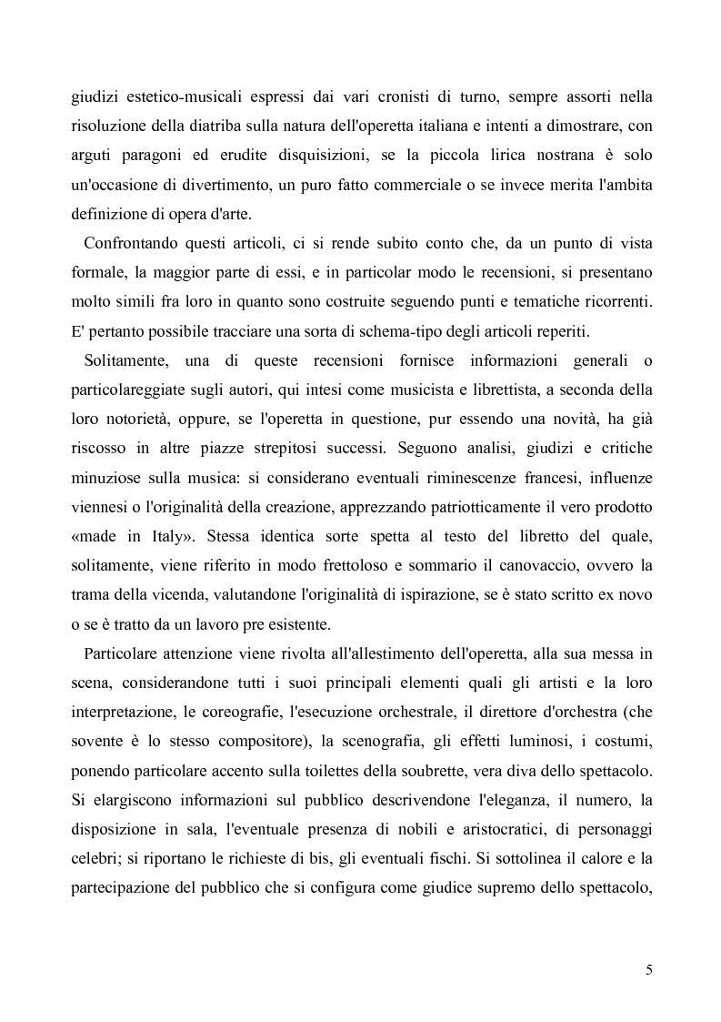 Anteprima della tesi: Torino: la stampa racconta l'operetta, Pagina 3