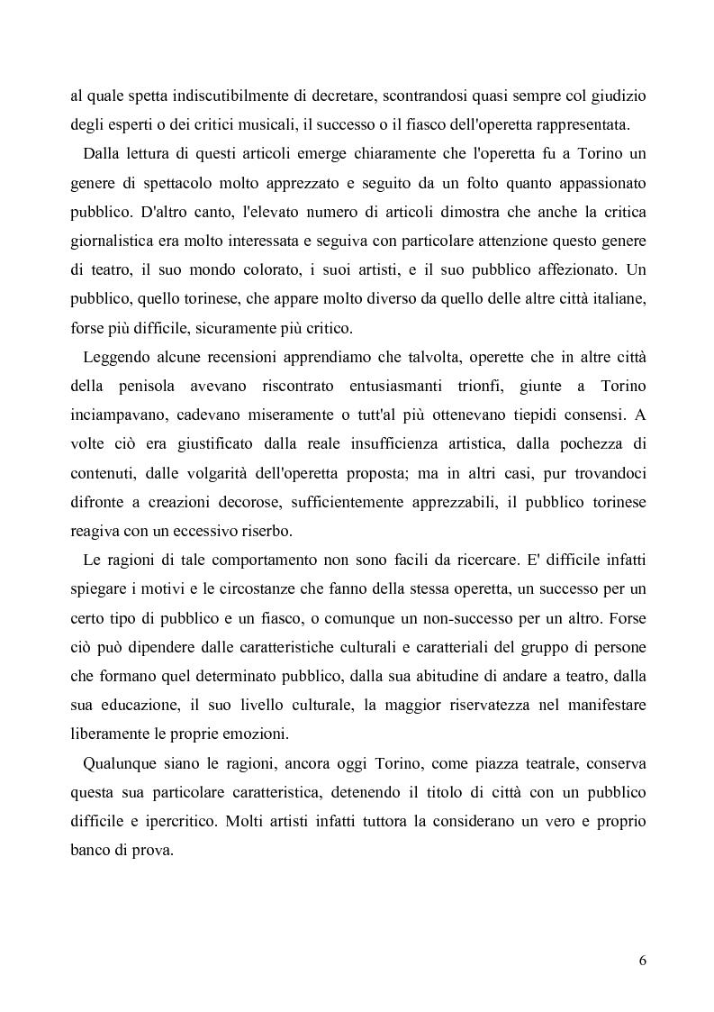Anteprima della tesi: Torino: la stampa racconta l'operetta, Pagina 4