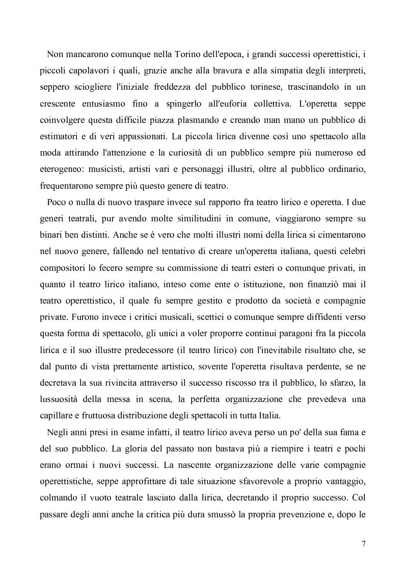 Anteprima della tesi: Torino: la stampa racconta l'operetta, Pagina 5