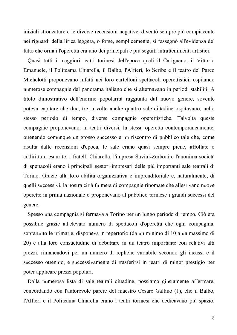 Anteprima della tesi: Torino: la stampa racconta l'operetta, Pagina 6