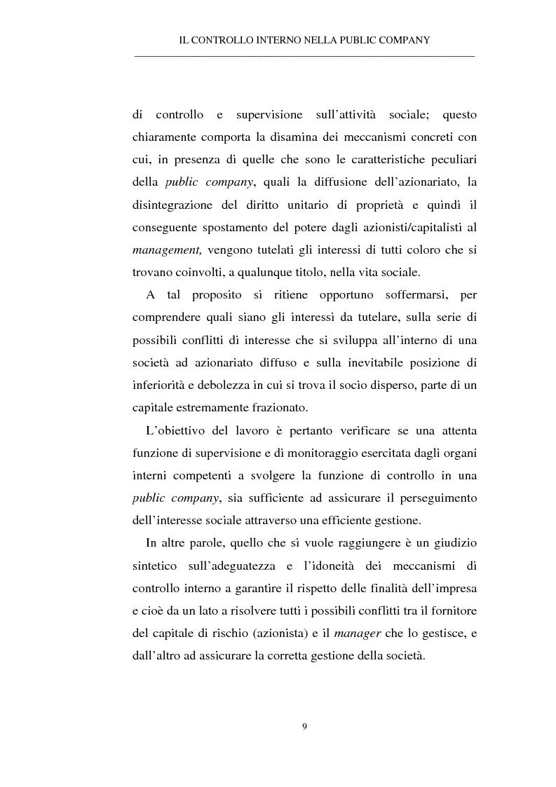 Anteprima della tesi: Il controllo interno nella public company, Pagina 5