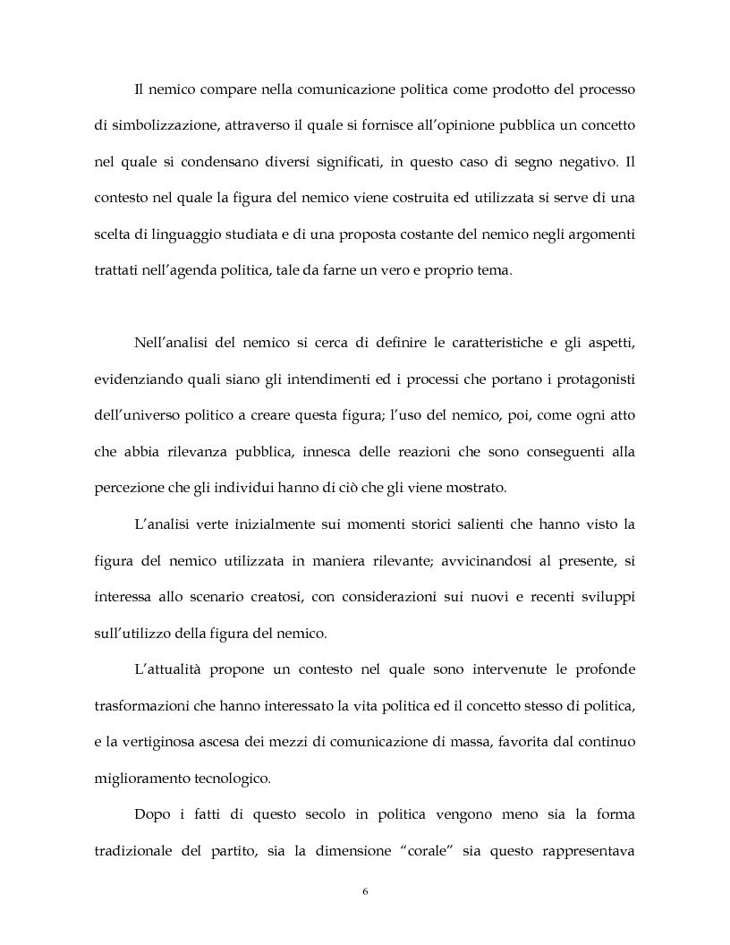Anteprima della tesi: La costruzione simbolica del nemico nella comunicazione politica, Pagina 3