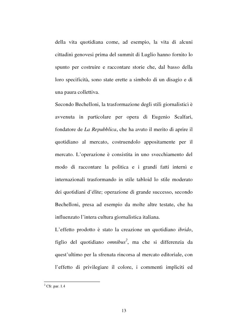 Anteprima della tesi: L'attesa mediatica: il G8 di Genova nella stampa italiana, Pagina 10