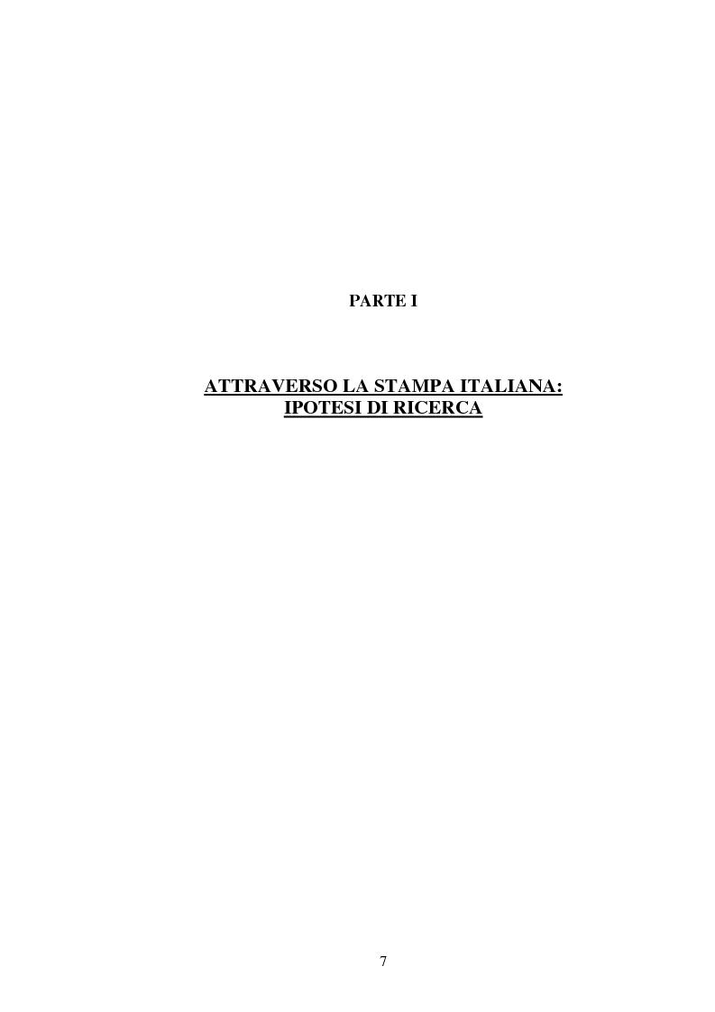 Anteprima della tesi: L'attesa mediatica: il G8 di Genova nella stampa italiana, Pagina 4