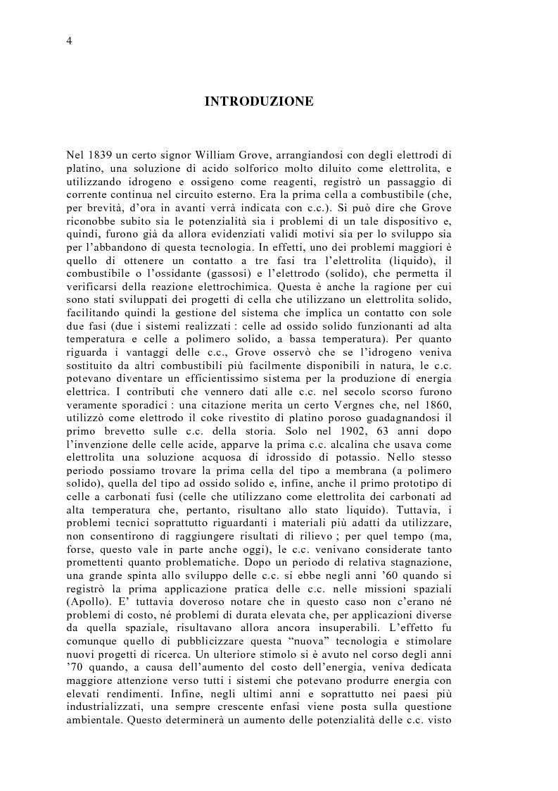 Anteprima della tesi: Le celle a combustibile: analisi tecnico-economica, Pagina 2