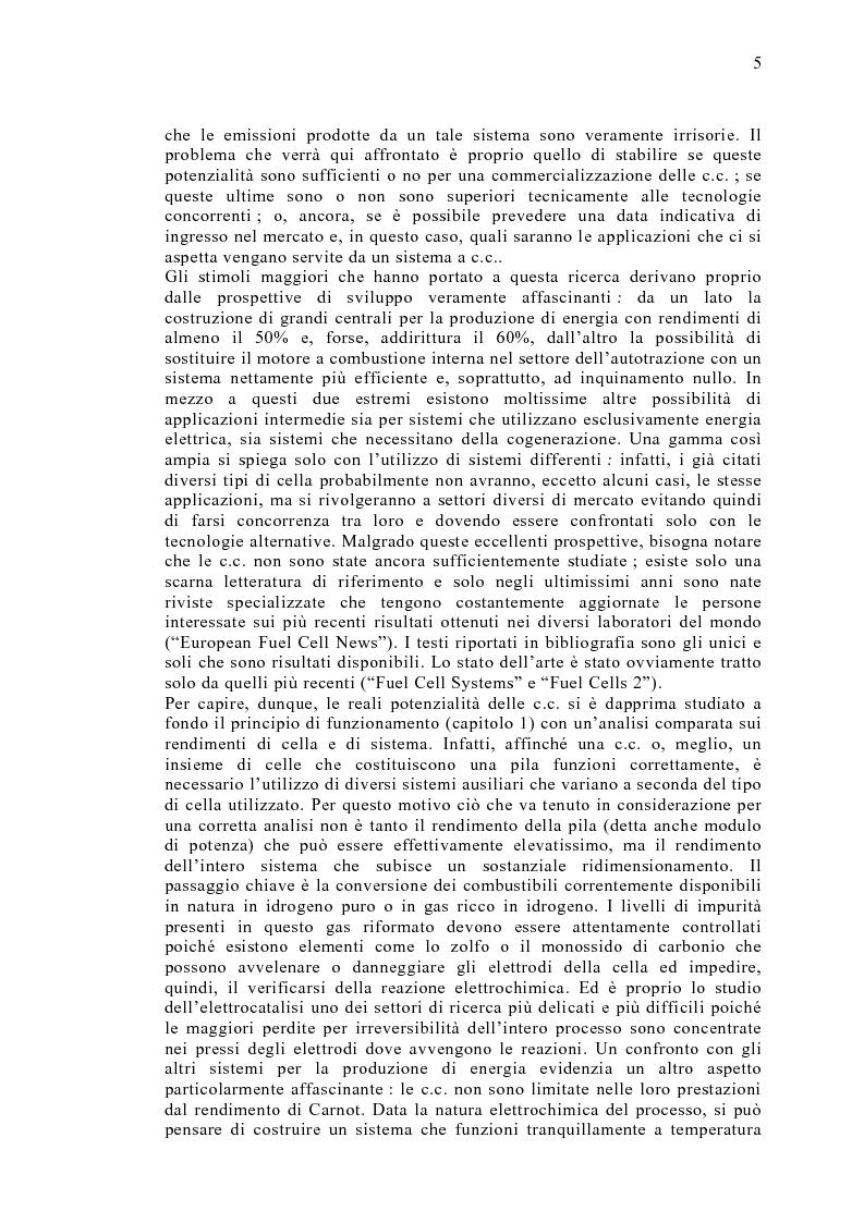 Anteprima della tesi: Le celle a combustibile: analisi tecnico-economica, Pagina 3