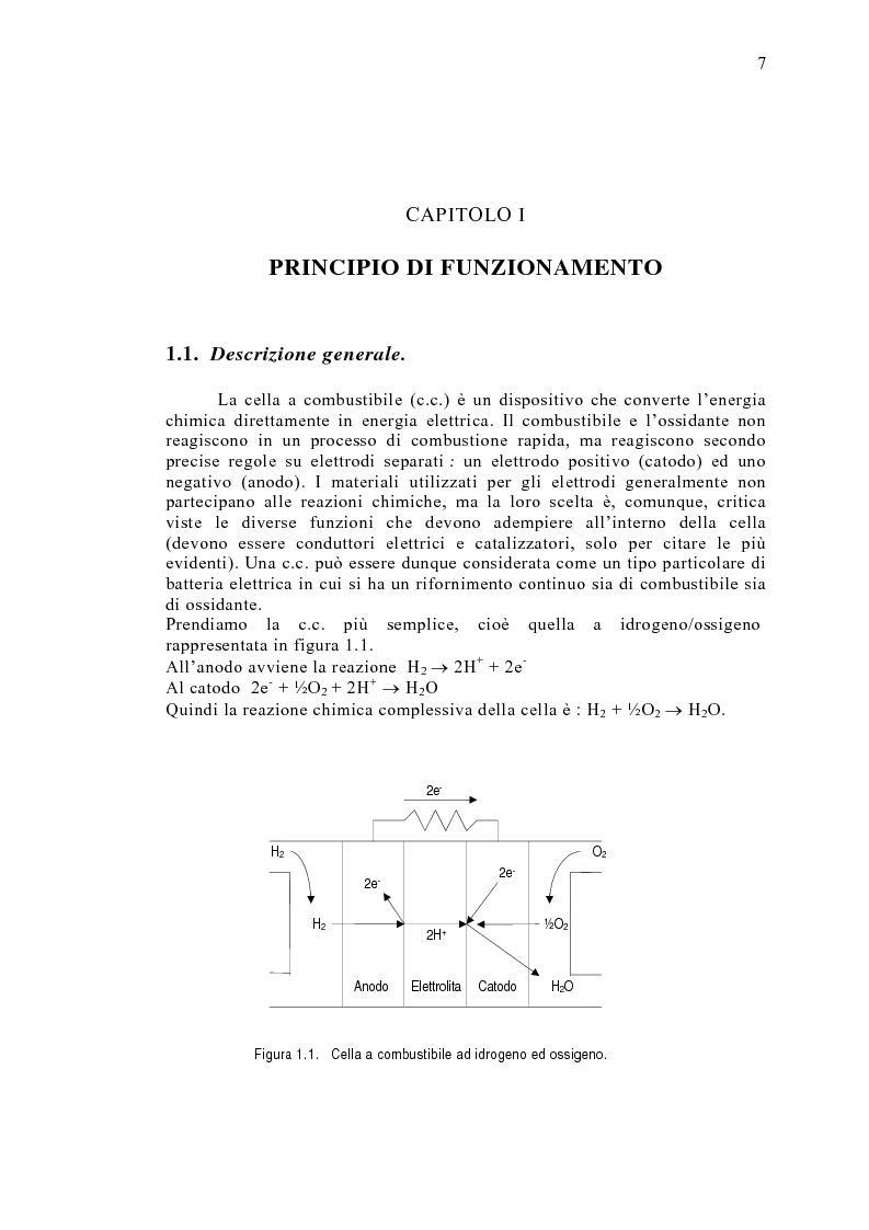 Anteprima della tesi: Le celle a combustibile: analisi tecnico-economica, Pagina 5
