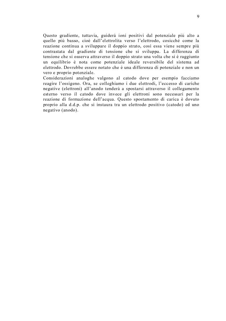Anteprima della tesi: Le celle a combustibile: analisi tecnico-economica, Pagina 7