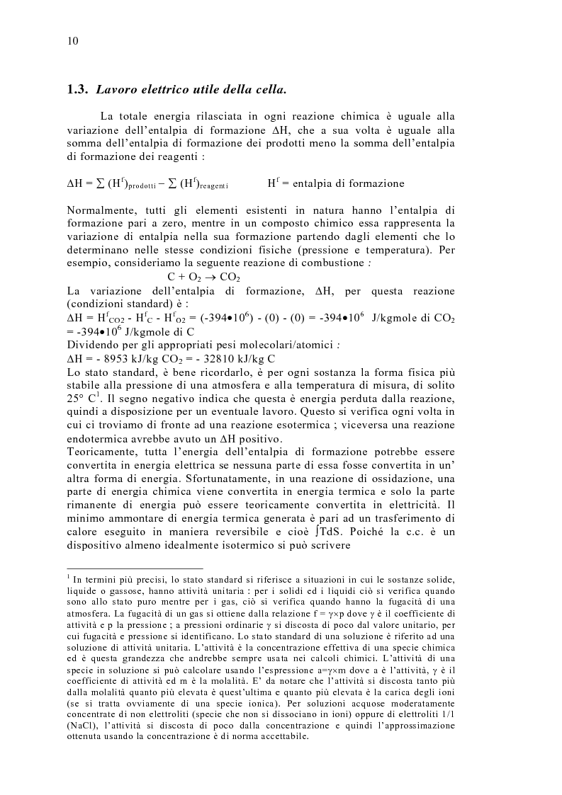Anteprima della tesi: Le celle a combustibile: analisi tecnico-economica, Pagina 8