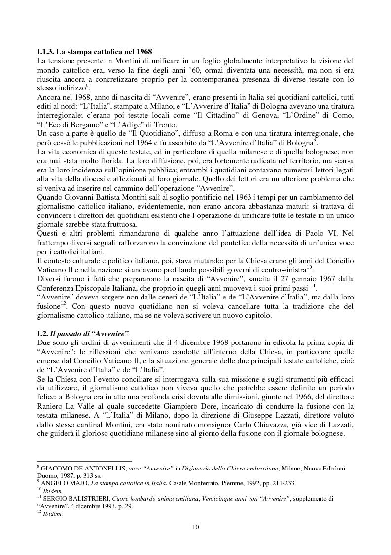 Anteprima della tesi: Una voce fuori dal coro: Avvenire, il quotidiano dei cattolici italiani, Pagina 3
