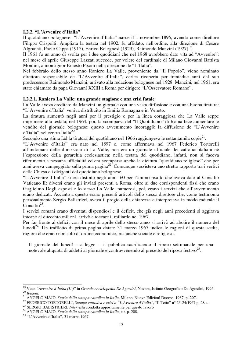 Anteprima della tesi: Una voce fuori dal coro: Avvenire, il quotidiano dei cattolici italiani, Pagina 5