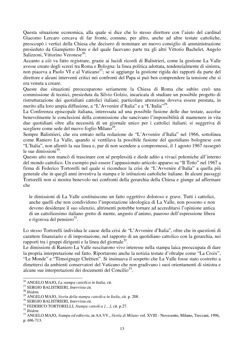Anteprima della tesi: Una voce fuori dal coro: Avvenire, il quotidiano dei cattolici italiani, Pagina 6
