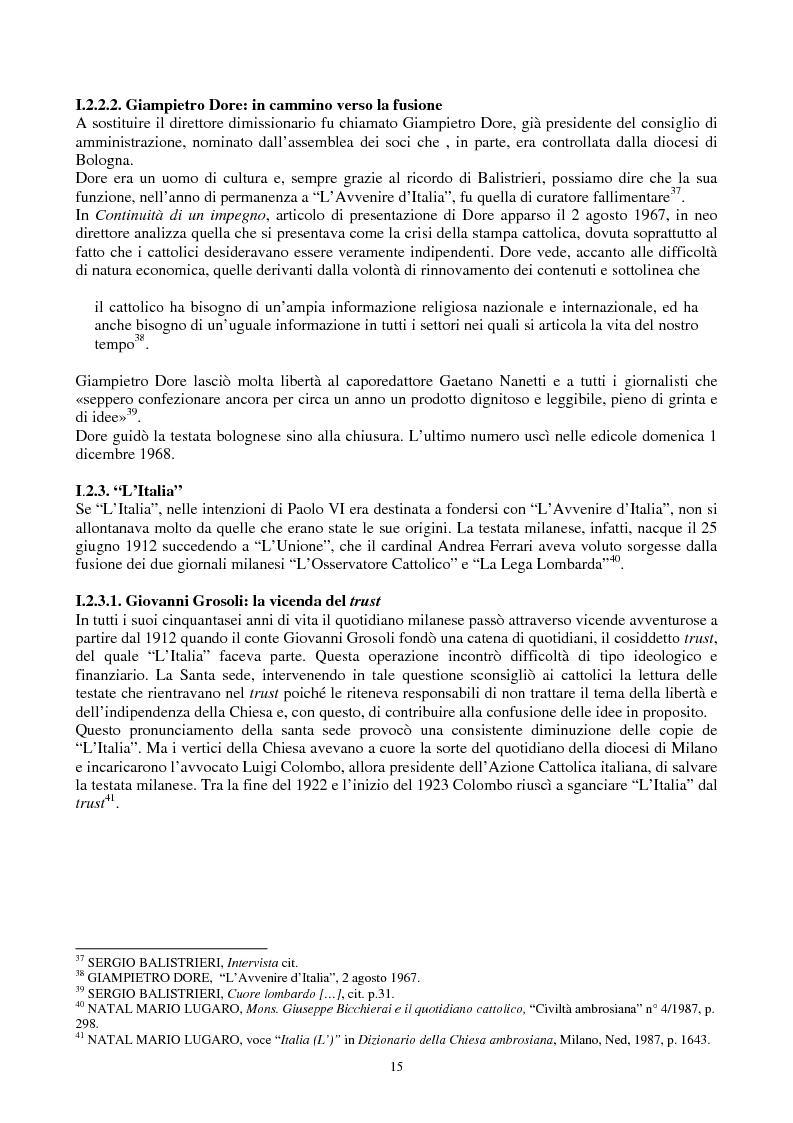 Anteprima della tesi: Una voce fuori dal coro: Avvenire, il quotidiano dei cattolici italiani, Pagina 8