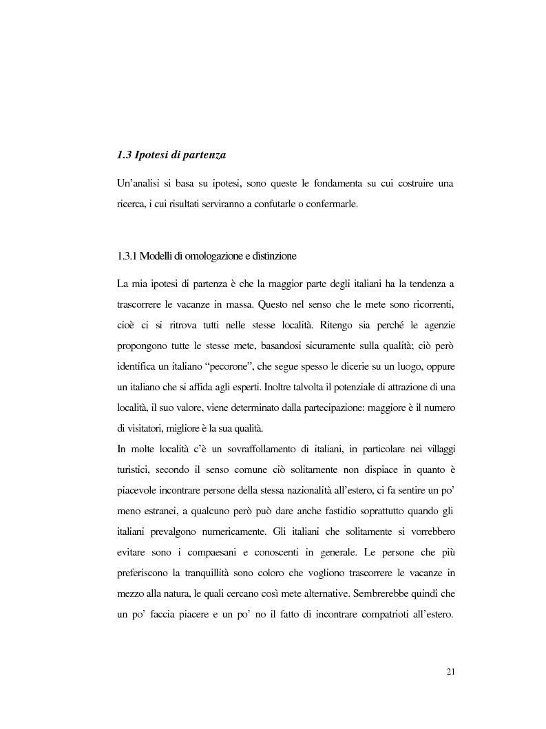 Anteprima della tesi: Procedure e caratteristiche della scelta della vacanza organizzata. Fonti di informazione e attribuzione di senso., Pagina 13