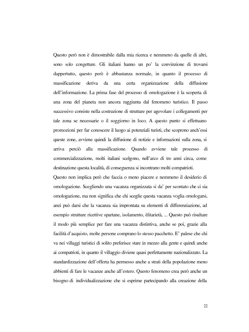 Anteprima della tesi: Procedure e caratteristiche della scelta della vacanza organizzata. Fonti di informazione e attribuzione di senso., Pagina 14