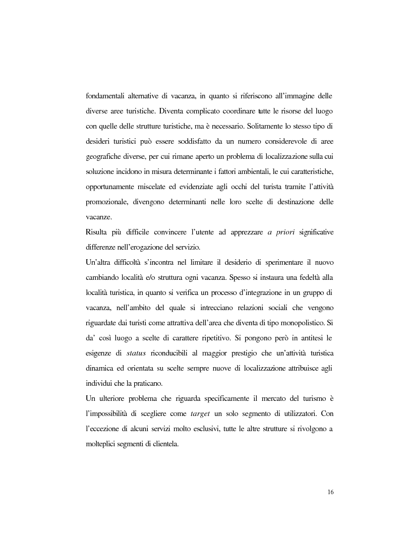 Anteprima della tesi: Procedure e caratteristiche della scelta della vacanza organizzata. Fonti di informazione e attribuzione di senso., Pagina 8
