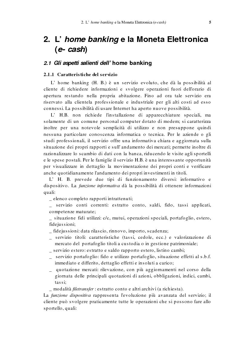 Anteprima della tesi: L'home banking e la presenza delle banche in Internet, Pagina 2
