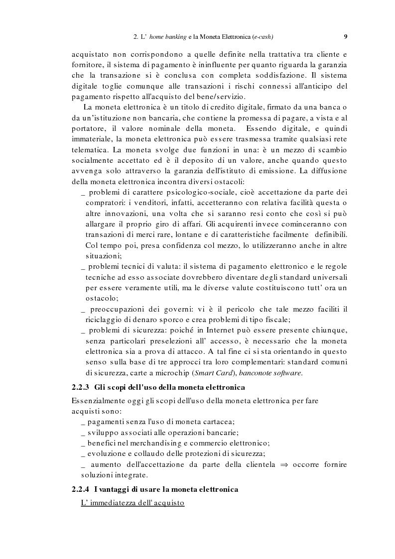 Anteprima della tesi: L'home banking e la presenza delle banche in Internet, Pagina 6