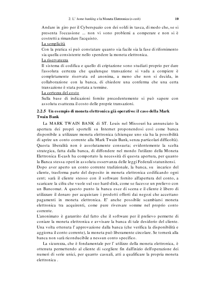 Anteprima della tesi: L'home banking e la presenza delle banche in Internet, Pagina 7