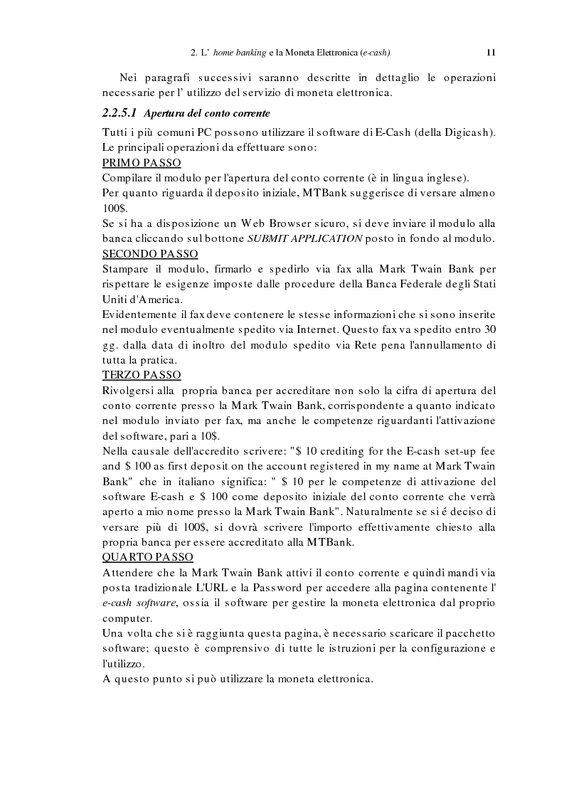 Anteprima della tesi: L'home banking e la presenza delle banche in Internet, Pagina 8