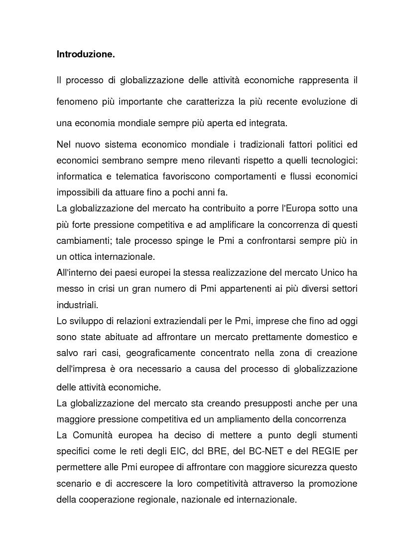 Anteprima della tesi: L'azione dell'Unione Europea a favore delle Piccole e Medie Imprese, Pagina 1