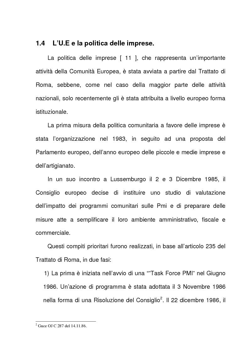 Anteprima della tesi: L'azione dell'Unione Europea a favore delle Piccole e Medie Imprese, Pagina 14