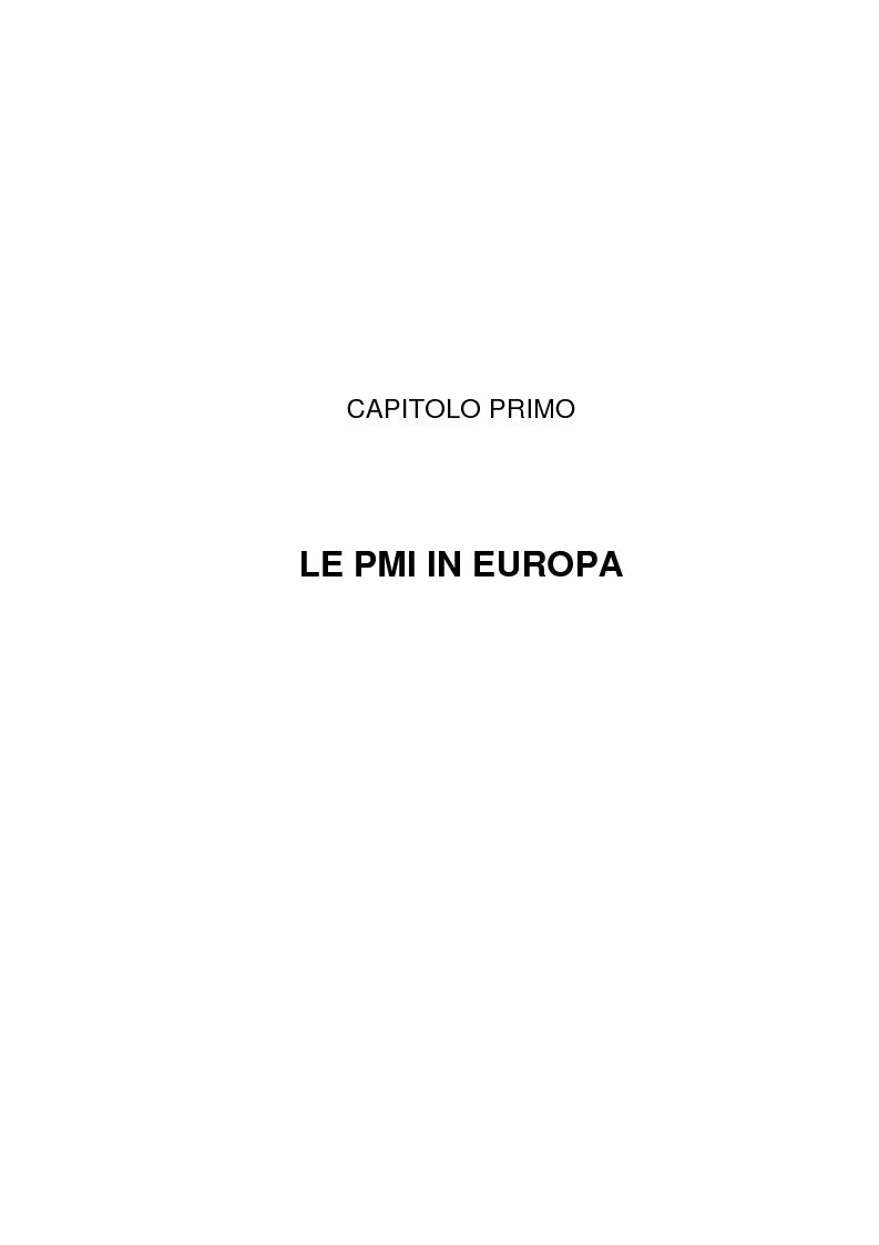 Anteprima della tesi: L'azione dell'Unione Europea a favore delle Piccole e Medie Imprese, Pagina 2