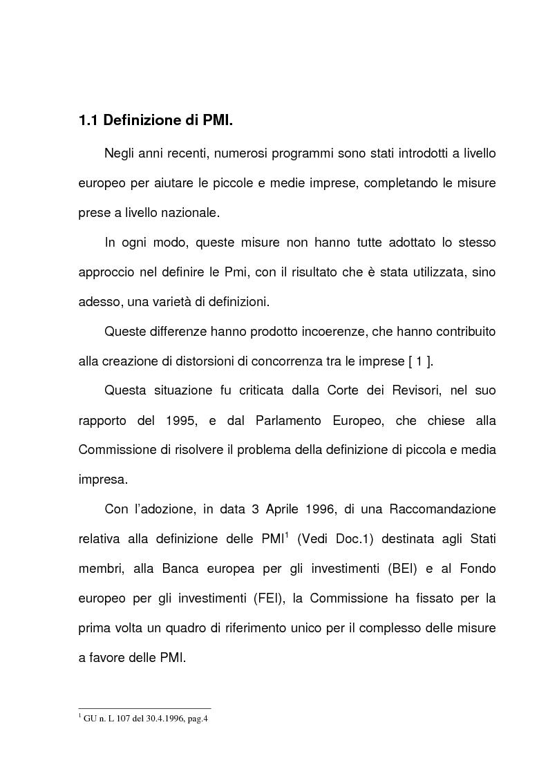 Anteprima della tesi: L'azione dell'Unione Europea a favore delle Piccole e Medie Imprese, Pagina 3