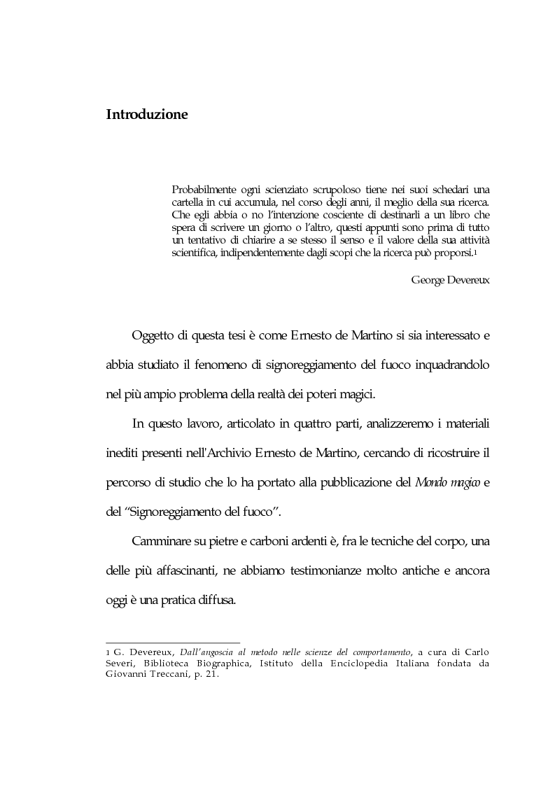 Anteprima della tesi: Il signoreggiamento del fuoco, Pagina 1