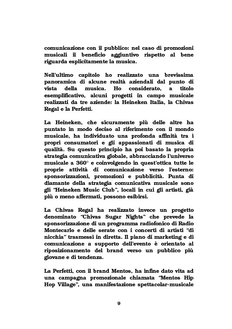 Anteprima della tesi: La musica come strumento di comunicazione aziendale, Pagina 4