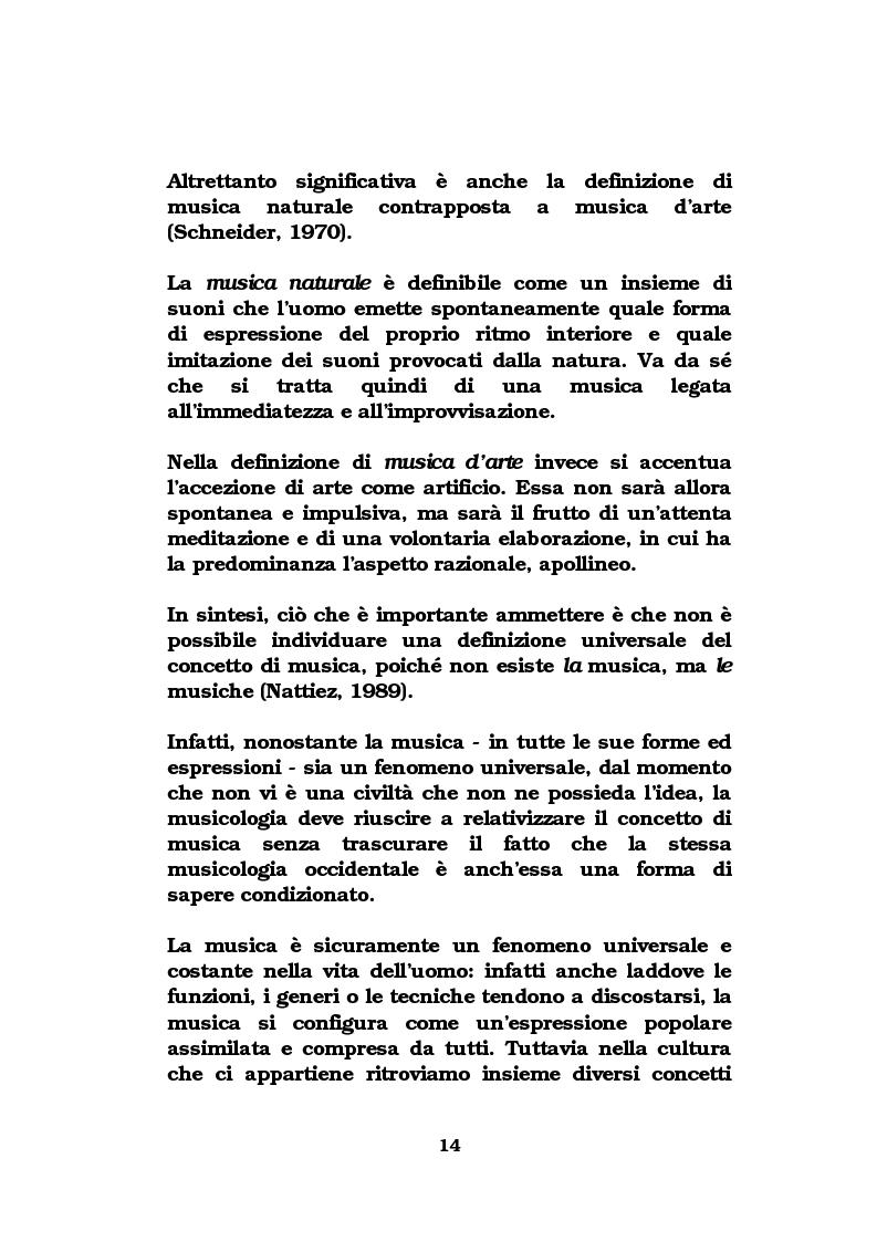 Anteprima della tesi: La musica come strumento di comunicazione aziendale, Pagina 9