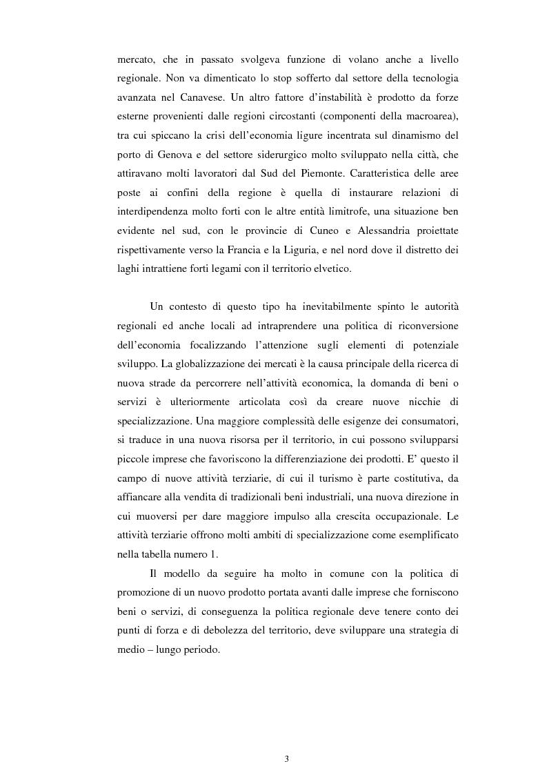 Anteprima della tesi: La promozione turistica del territorio piemontese, Pagina 3