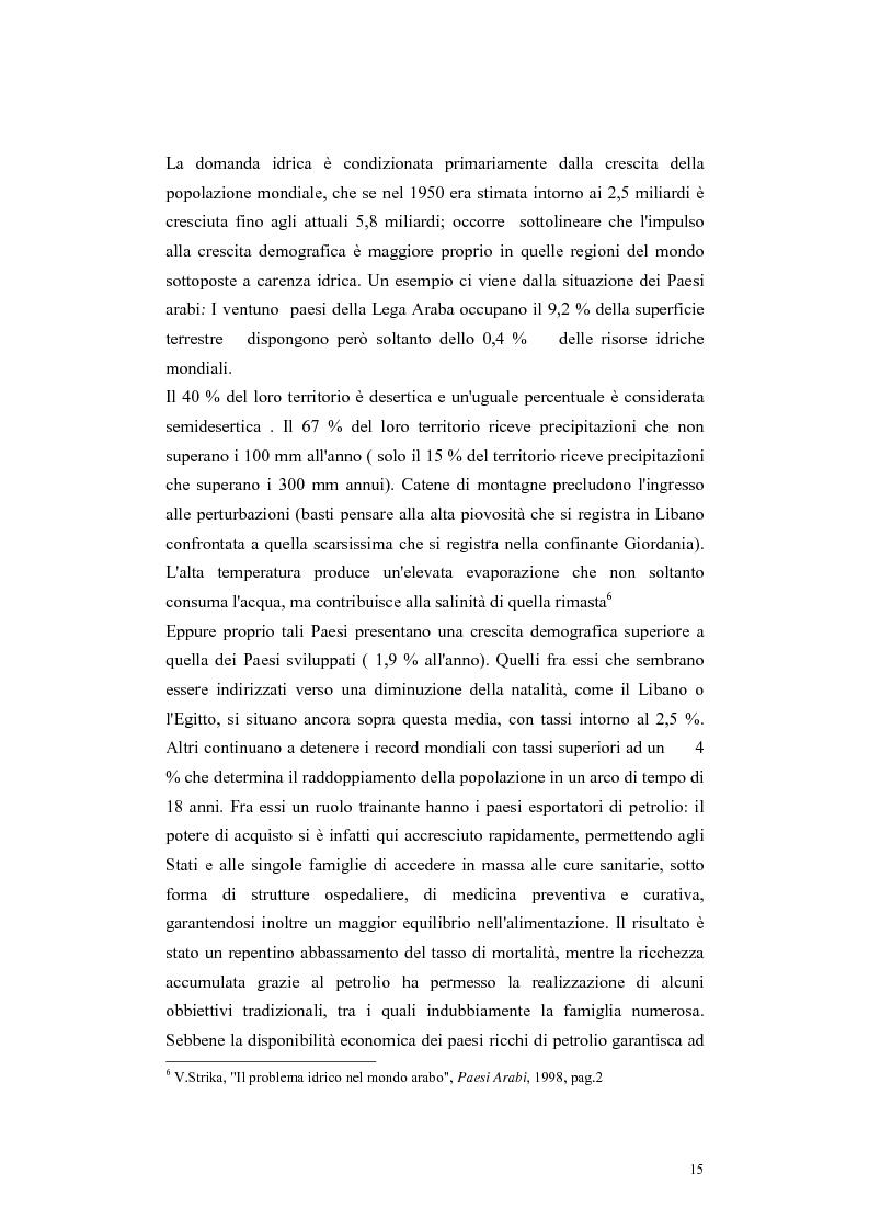 Anteprima della tesi: L'acqua come motivo di conflitto: il caso turco siriano, Pagina 13