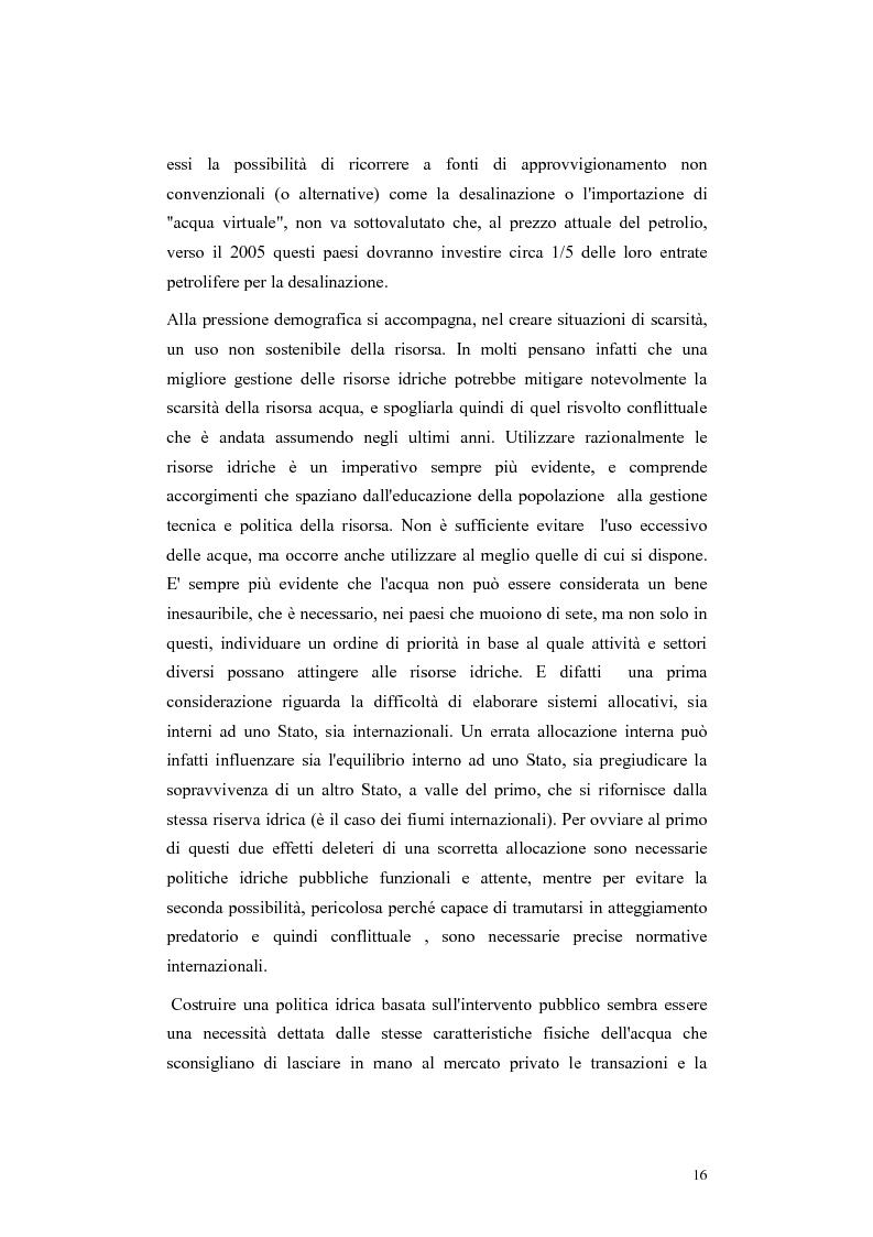 Anteprima della tesi: L'acqua come motivo di conflitto: il caso turco siriano, Pagina 14