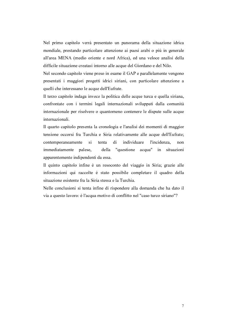 Anteprima della tesi: L'acqua come motivo di conflitto: il caso turco siriano, Pagina 5