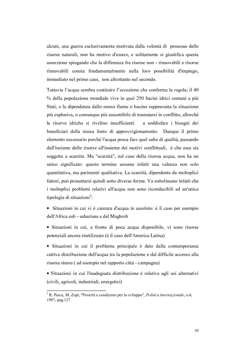 Anteprima della tesi: L'acqua come motivo di conflitto: il caso turco siriano, Pagina 8