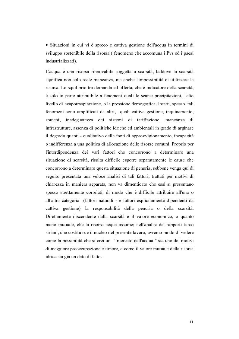 Anteprima della tesi: L'acqua come motivo di conflitto: il caso turco siriano, Pagina 9