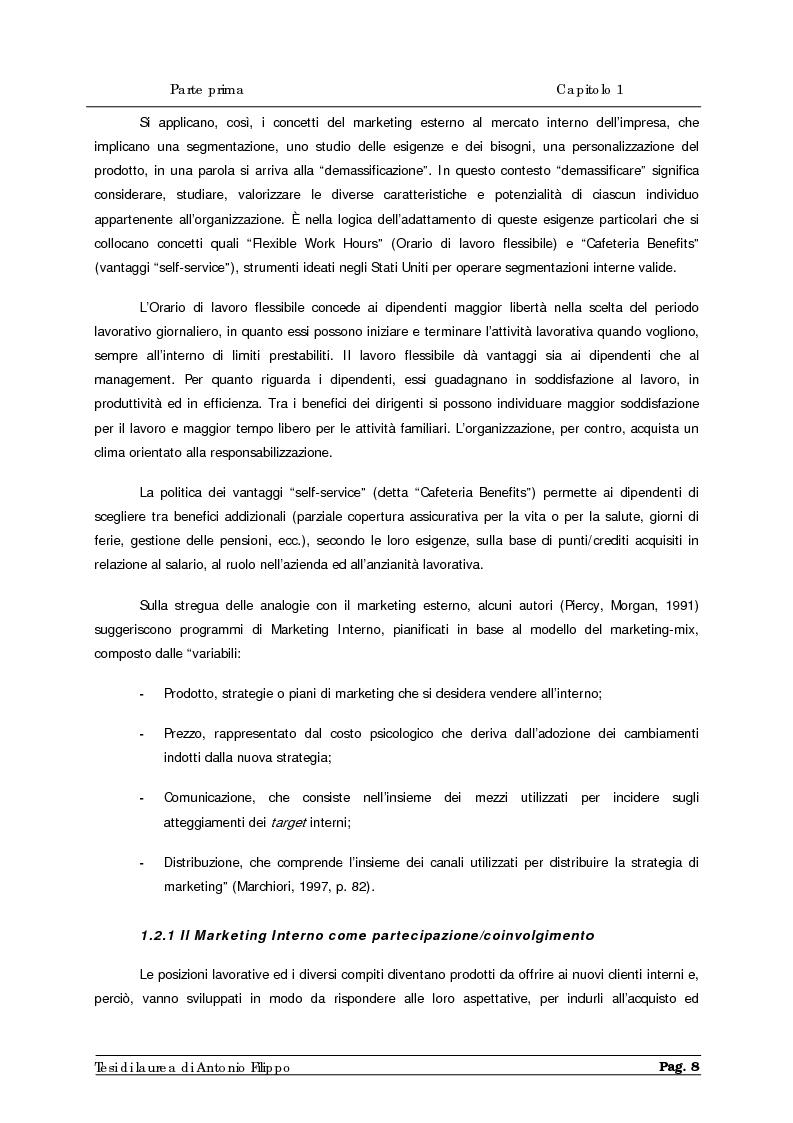 Anteprima della tesi: Le ricerche di marketing interno per la customer satisfaction. Un'indagine empirica sulla Cassa di Risparmio di Calabria e di Lucania., Pagina 10