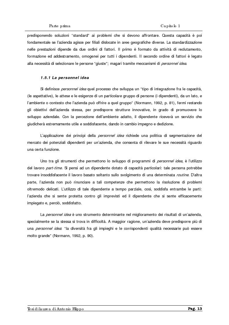 Anteprima della tesi: Le ricerche di marketing interno per la customer satisfaction. Un'indagine empirica sulla Cassa di Risparmio di Calabria e di Lucania., Pagina 15
