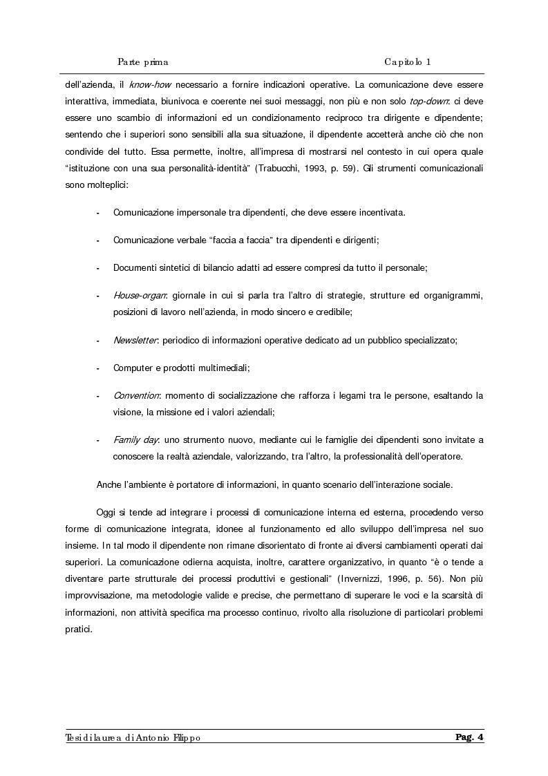 Anteprima della tesi: Le ricerche di marketing interno per la customer satisfaction. Un'indagine empirica sulla Cassa di Risparmio di Calabria e di Lucania., Pagina 6